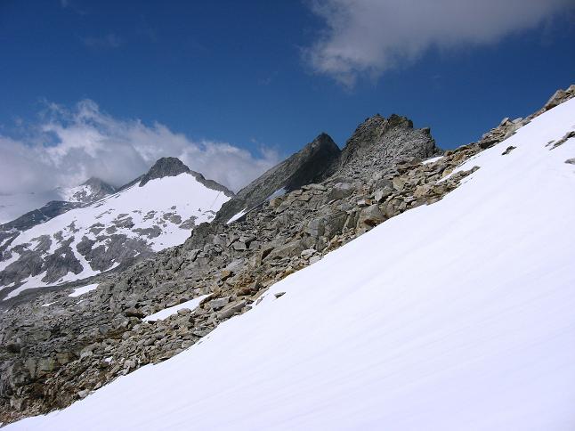 Foto: Andreas Koller / Wander Tour / Vom Maltatal ins Gasteinertal (2886 m) / Unterhalb der Kleinelendscharte / 27.06.2007 17:13:40