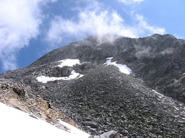 Foto: Andreas Koller / Wander Tour / Vom Maltatal ins Gasteinertal (2886 m) / Der Keeskogel von W / 27.06.2007 17:13:53