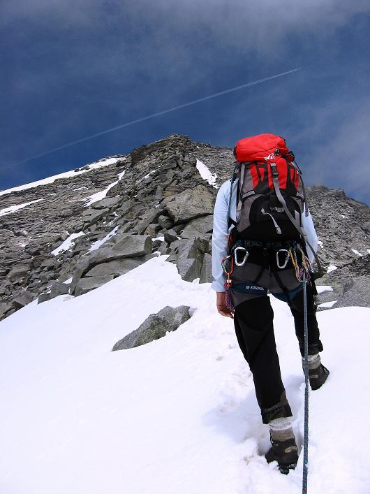 Foto: Andreas Koller / Wandertour / Schrammacher (3411 m) / Einstieg in den S-Grat des Schrammacher / 03.07.2007 13:39:38