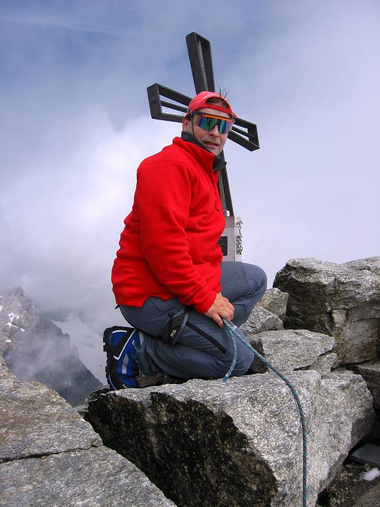 Foto: Andreas Koller / Wandertour / Schrammacher (3411 m) / Am Schrammacher-Gipfel / 03.07.2007 13:38:57