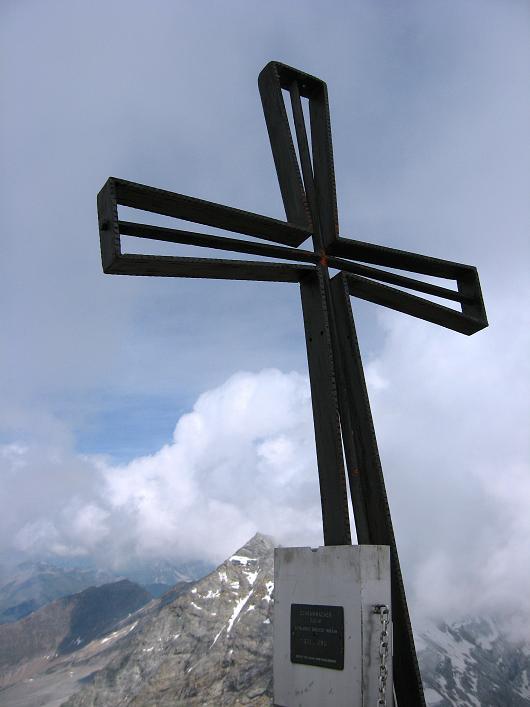 Foto: Andreas Koller / Wandertour / Schrammacher (3411 m) / Gipfelkreuz am Schrammacher / 03.07.2007 13:38:35