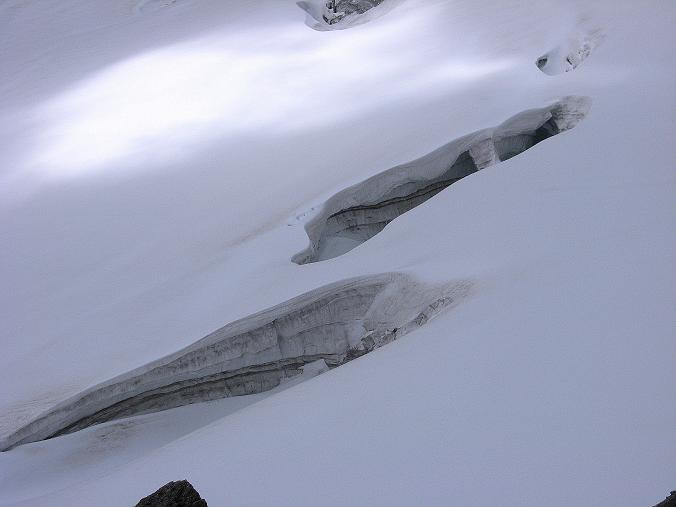 Foto: Andreas Koller / Wandertour / Schrammacher (3411 m) / Spaltenzone am Stampflkees / 03.07.2007 13:37:52