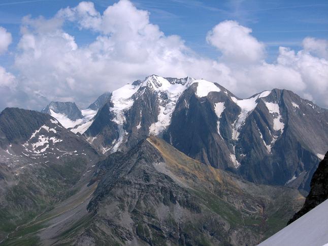 Foto: Andreas Koller / Wandertour / Schrammacher (3411 m) / Hochfeiler (3510 m) und Hochfernerspitze (3470 m) / 03.07.2007 13:34:52