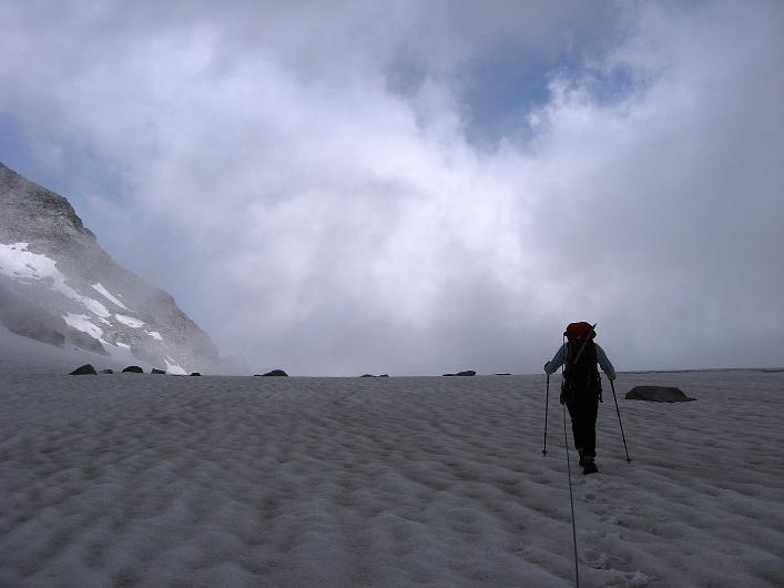 Foto: Andreas Koller / Wandertour / Schrammacher (3411 m) / Querung des Stampflkeeses / 03.07.2007 13:40:29