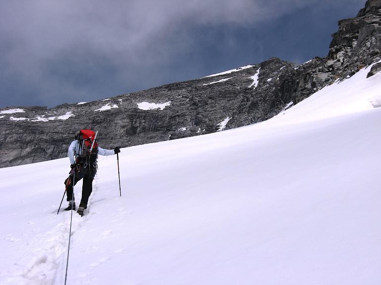 Foto: Andreas Koller / Wandertour / Schrammacher (3411 m) / Querung des Stampflkeeses gegen Schrammacher / 03.07.2007 13:39:57