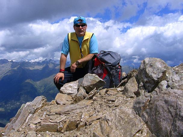 Foto: Andreas Koller / Wander Tour / Durch das Arntal auf die Weiße Spitze (2963 m) / Am Gipfel der Weißen Spitze / 10.07.2007 17:46:17