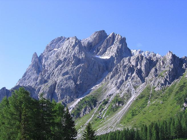 Foto: Andreas Koller / Klettersteig Tour / Rotwand-Klettersteig - Via ferrata Croda Rossa (2939 m) / Die Sextener Rotwand von N / 10.07.2007 18:50:03