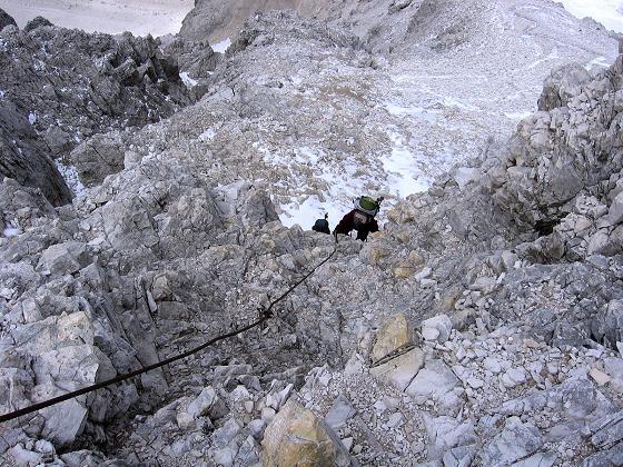 Foto: Andreas Koller / Klettersteig Tour / Rotwand-Klettersteig - Via ferrata Croda Rossa (2939 m) / Die zweite