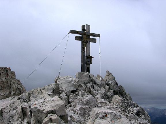 Foto: Andreas Koller / Klettersteig Tour / Rotwand-Klettersteig - Via ferrata Croda Rossa (2939 m) / Das Rotwand-Gipfelkreuz / 10.07.2007 18:43:29