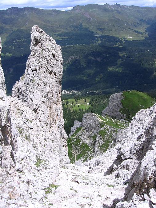 Foto: Andreas Koller / Klettersteig Tour / Rotwand-Klettersteig - Via ferrata Croda Rossa (2939 m) / Abstiegsroute zum Burgstall / 10.07.2007 18:42:00