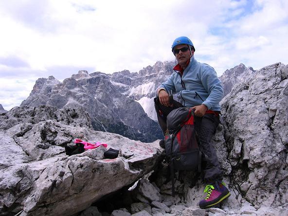 Foto: Andreas Koller / Klettersteig Tour / Rotwand-Klettersteig - Via ferrata Croda Rossa (2939 m) / Rast im Schuttkessel / 10.07.2007 18:41:39