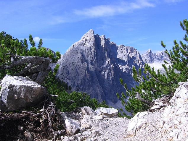 Foto: Andreas Koller / Klettersteig Tour / Rotwand-Klettersteig - Via ferrata Croda Rossa (2939 m) / Im Herz der Sextener Dolomiten / 10.07.2007 18:49:25