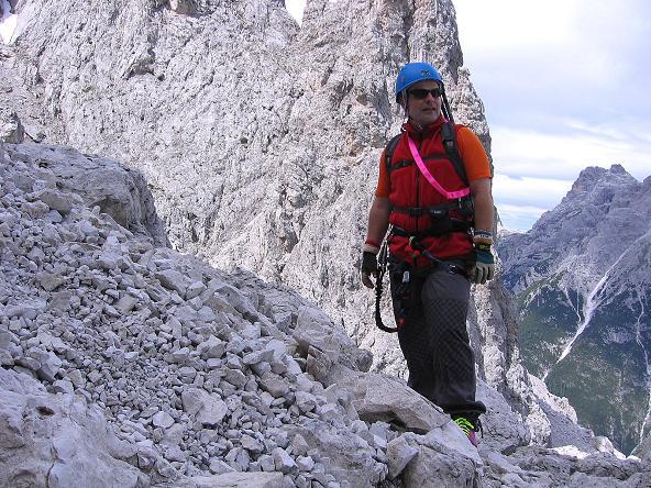 Foto: Andreas Koller / Klettersteig Tour / Rotwand-Klettersteig - Via ferrata Croda Rossa (2939 m) / Nach der steilen Leiter / 10.07.2007 18:47:41