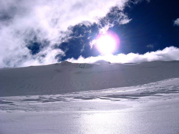 Foto: Andreas Koller / Wander Tour / Über zwei große Keese auf den Romariswandkopf (3511 m) / Glitzerndes Gletschereis am Fruschnitzkees / 10.07.2007 22:29:50