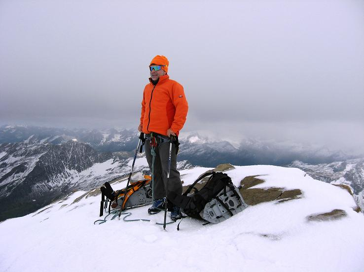 Foto: Andreas Koller / Wander Tour / Über zwei große Keese auf den Romariswandkopf (3511 m) / Am Gipfel des Romariswandkopfes / 10.07.2007 22:26:34