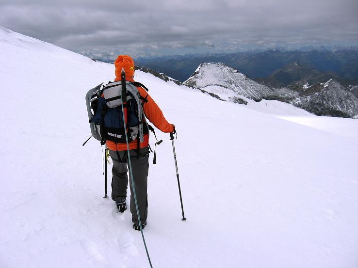 Foto: Andreas Koller / Wander Tour / Über zwei große Keese auf den Romariswandkopf (3511 m) / Abstieg über das Fruschnitzkees / 10.07.2007 22:25:06
