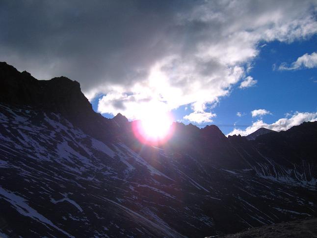 Foto: Andreas Koller / Wander Tour / Über zwei große Keese auf den Romariswandkopf (3511 m) / Sonnenaufgang in der Glocknergruppe / 10.07.2007 22:32:58