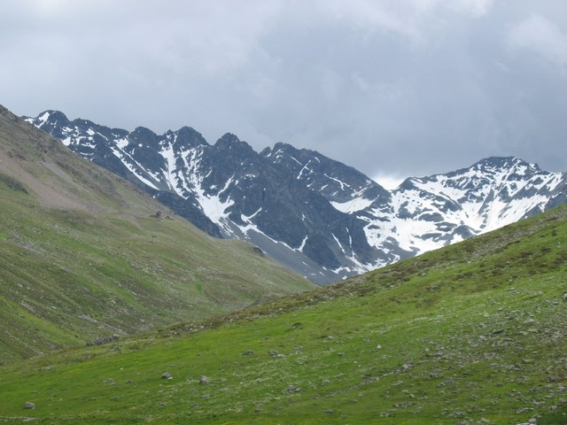 Foto: Jürgen Lindlbauer / Mountainbike Tour / Von Ried auf die Platzalpe (2181m)  / Blick auf die vordere und hintere Gerhardspitze (3114m & 3104m) / 13.07.2007 15:57:28