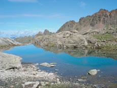 Foto: Tirol Werbung / Wander Tour / Adlerweg Etappe 42 - Ein Aussichtsgipfel und viele Bergseen / Lache Riegetal / 26.07.2007 12:44:09