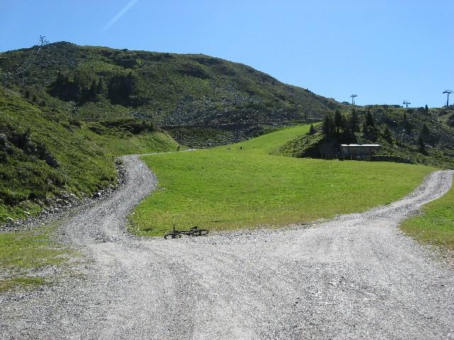 Foto: mucho / Mountainbike Tour / Rosenalm Kreuzjoch, Kreuzwiesen Zell / hier wirds steiler / 18.07.2007 16:16:09