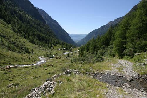 Foto: Lenswork.at / Ch. Streili / Wander Tour / Vom Göriachtal zum oberen Landawirsee / Blick zurück ins Göriachtal / 27.07.2007 15:20:47