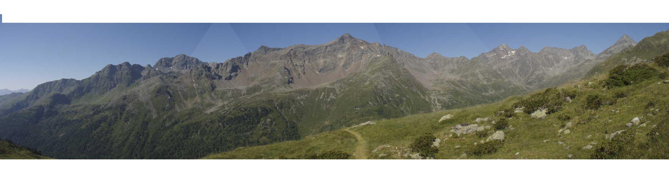 Foto: Grasberger Gerhard / Wander Tour / Durch das Debanttal auf den Glödis 3206m / Blick nach Süden über das Debanttal / 30.07.2007 09:51:46