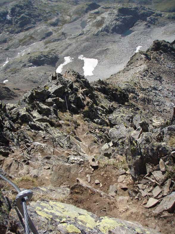 Foto: Grasberger Gerhard / Wander Tour / Durch das Debanttal auf den Glödis 3206m / Am Süd-Ost Grat Klettersteig / 30.07.2007 09:50:31