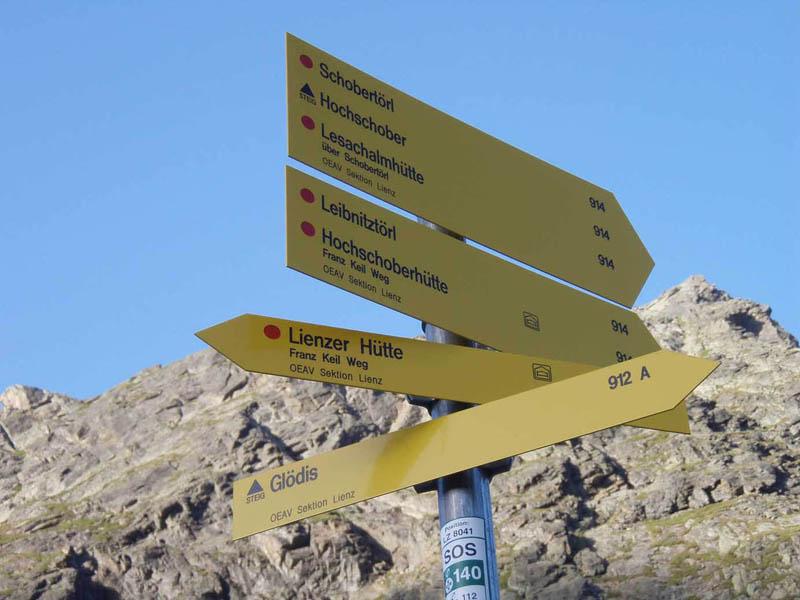 Foto: Grasberger Gerhard / Wander Tour / Durch das Debanttal auf den Glödis 3206m / Pkt. 2160 Abzweigung Richtung Kalser Törl. / 30.07.2007 09:48:58