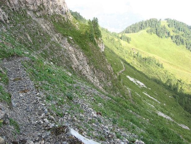Foto: mucho / Klettersteig Tour / Gerlossteinwand / Zustieg von oben gesehen / 30.07.2007 10:44:02