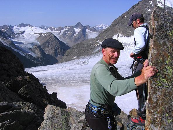 Foto: Andreas Koller / Wander Tour / Von der Franz Senn Hütte in die Wildgratscharte (3170 m) / Wilgratscharte mit Blick nach SW / 08.08.2007 13:47:29