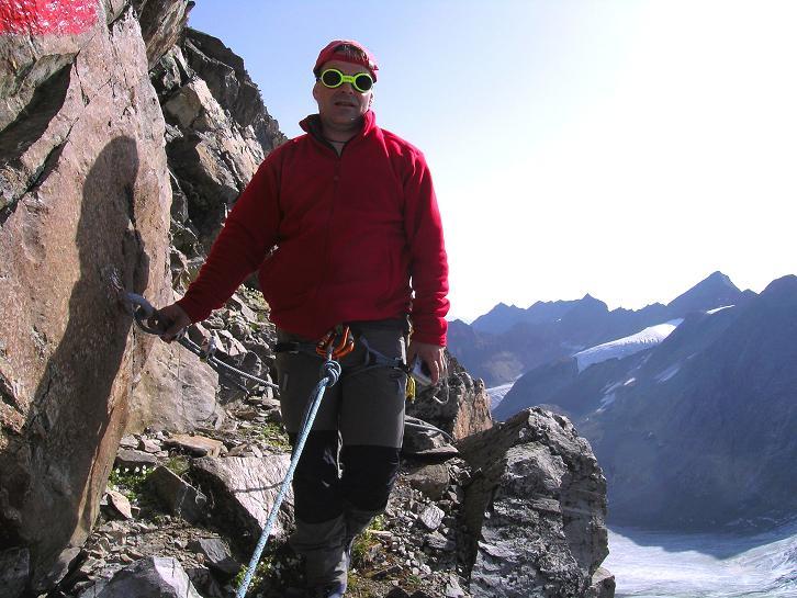 Foto: Andreas Koller / Wander Tour / Von der Franz Senn Hütte in die Wildgratscharte (3170 m) / In der Wildgratscharte / 08.08.2007 13:46:54