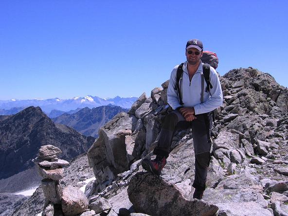 Foto: Andreas Koller / Wander Tour / Über zwei Gletscher auf den Lisenser Fernerkogel (3298 m) / Auf der Plattigen Wand / 08.08.2007 14:14:51