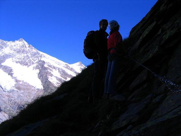 Foto: Andreas Koller / Klettersteig Tour / Klettersteig Mittaghorn (3144m) / Erster Einstieg in den Klettersteig / 09.08.2007 10:30:03