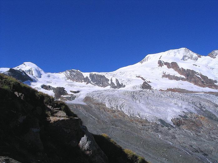 Foto: Andreas Koller / Klettersteig Tour / Klettersteig Mittaghorn (3144m) / Allalinhorn (4027 m) und Alphubel (4206 m) / 09.08.2007 10:27:57