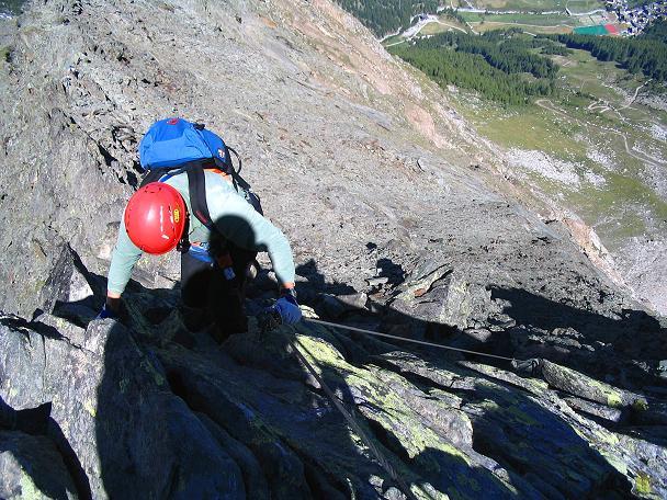 Foto: Andreas Koller / Klettersteig Tour / Klettersteig Mittaghorn (3144m) / Ausgesetzt, aber gut gesichert / 09.08.2007 10:26:44