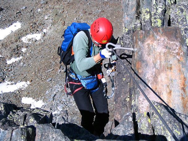 Foto: Andreas Koller / Klettersteig Tour / Klettersteig Mittaghorn (3144m) / Perfekte Klettersteigtechnik / 09.08.2007 10:23:09
