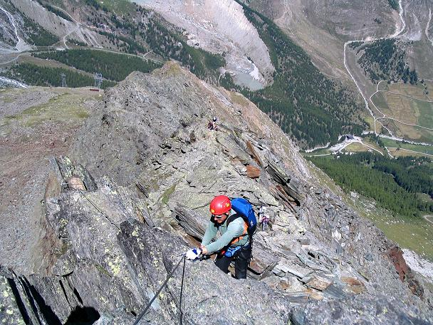 Foto: Andreas Koller / Klettersteig Tour / Klettersteig Mittaghorn (3144m) / Immer dem scharfen Grat entlang / 09.08.2007 10:22:21
