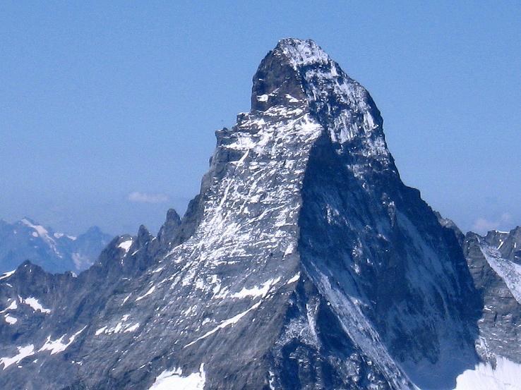 Foto: Andreas Koller / Wander Tour / Alphubel - Überschreitung (4206 m) / Das Matterhorn (4478 m) im SW / 09.08.2007 15:41:42