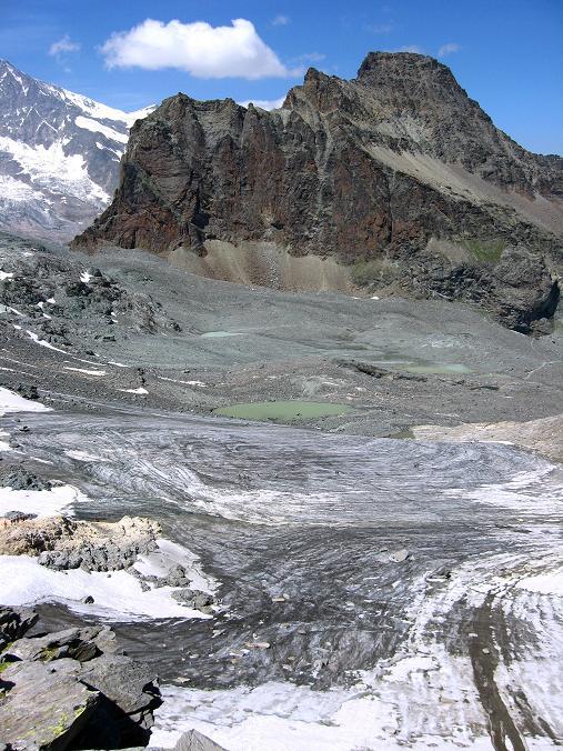 Foto: Andreas Koller / Wander Tour / Im Banne der Walliser Eisriesen auf das Fluchthorn (3791 m) / Egginer (3367 m) und Chessjen-Gletscher / 10.08.2007 21:23:44