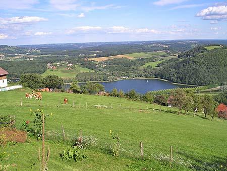 Foto: Barbara Grobbauer / Nordic Walking Tour / ApfelLand Stubenbergsee: Aussichtstour am Kulm / Aussichtstour am Kulm- Panorama / 13.08.2007 10:50:31