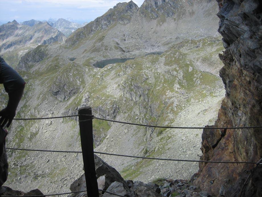 Foto: christian_alpin / Wander Tour / Zinkwand  von Salzburg  / Ausblick vom Biwak im Stollen Richtung Knappenkarseen / 15.08.2007 21:09:45