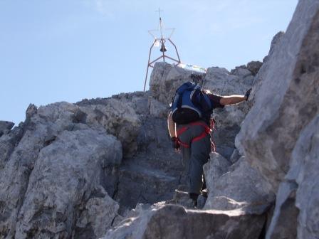 Foto: dobratsch11 / Klettersteig Tour / Weg der 26er / kurz vor dem Gipfel / 16.08.2007 21:29:19