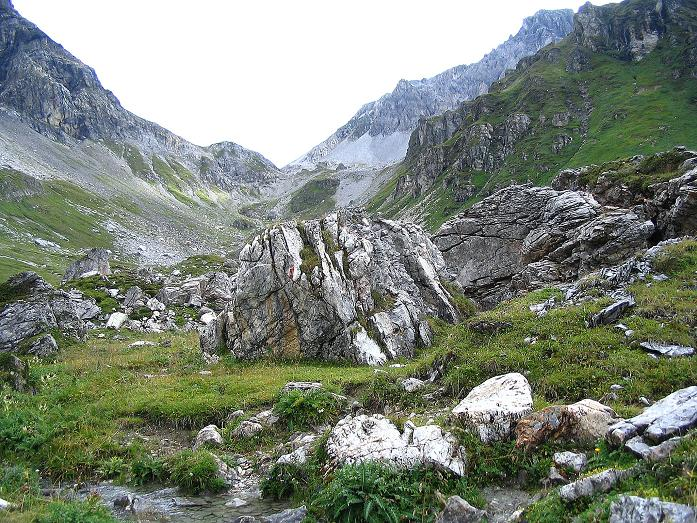 Foto: Andreas Koller / Wander Tour / Über die Franz Fischer Hütte auf den Faulkogel (2654 m) / Der Anstieg in die Windischscharte / 17.08.2007 11:07:12