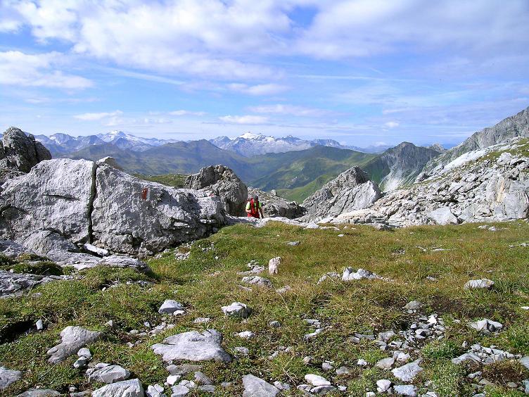 Foto: Andreas Koller / Wander Tour / Über die Franz Fischer Hütte auf den Faulkogel (2654 m) / Die letzten Meter in die Windischscharte / 17.08.2007 11:06:00