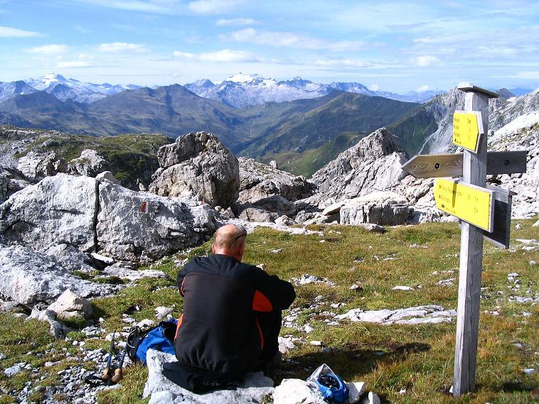 Foto: Andreas Koller / Wander Tour / Über die Franz Fischer Hütte auf den Faulkogel (2654 m) / Rast in der Windischscharte / 17.08.2007 11:05:34