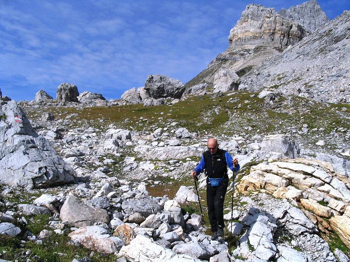 Foto: Andreas Koller / Wander Tour / Über die Franz Fischer Hütte auf den Faulkogel (2654 m) / Abstieg von der Windischscharte / 17.08.2007 11:05:18