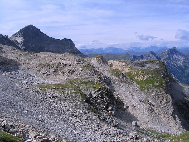 Foto: Andreas Koller / Wander Tour / Über die Franz Fischer Hütte auf den Faulkogel (2654 m) / Blick von der Neukarscharte auf die Wildkarhöhe (2514 m) / 17.08.2007 11:03:00