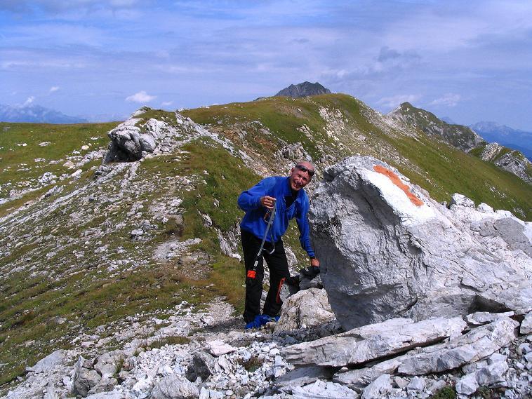 Foto: Andreas Koller / Wander Tour / Über die Franz Fischer Hütte auf den Faulkogel (2654 m) / Anlegen des Sets auf der Neukarscharte / 17.08.2007 11:02:37