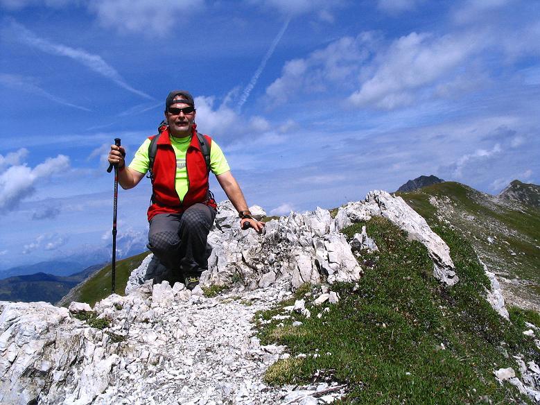 Foto: Andreas Koller / Wander Tour / Über die Franz Fischer Hütte auf den Faulkogel (2654 m) / Auf der Neukarscharte / 17.08.2007 11:02:20