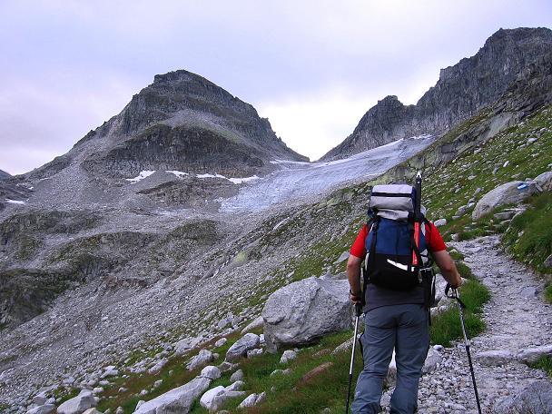 Foto: Andreas Koller / Wander Tour / Kombinierte Tour auf die Granatspitze (3086 m) / Knapp oberhalb des Weißsees mit Tauernkogel (2683 m) / 17.08.2007 13:04:45